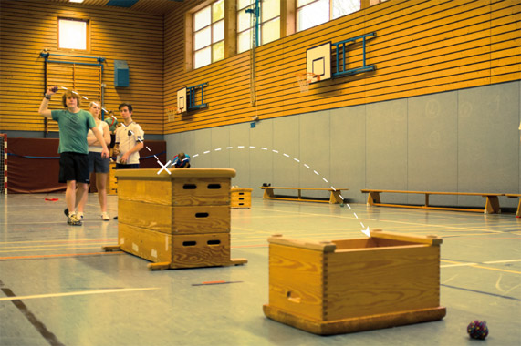 Trensport Crossboccia im Schulsport